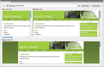 Multiscreen Preview in Dreamweaver